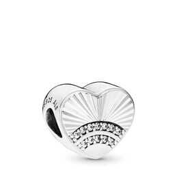 Fan of Love Charm, Sterling-Silber, Kein anderes Material, Keine Farbe, Cubic Zirkonia - PANDORA - #797288CZ