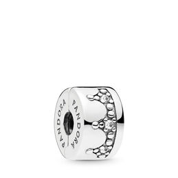 Dazzling Crown Charm, Sterling-Silber, Kein anderes Material, Keine Farbe, Cubic Zirkonia - PANDORA - #797634CZ