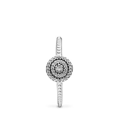 Strahlende Eleganz Ring, Sterling-Silber, Kein anderes Material, Keine Farbe, Cubic Zirkonia - PANDORA - #190986CZ