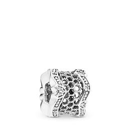 Lace of Love Charm, Sterling-Silber, Kein anderes Material, Keine Farbe, Cubic Zirkonia - PANDORA - #797653CZ