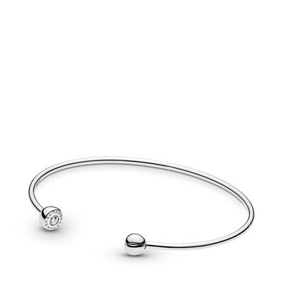 ESSENCE Silver Offener Armreif, Sterling-Silber, Kein anderes Material, Keine Farbe, Cubic Zirkonia - PANDORA - #597229CZ