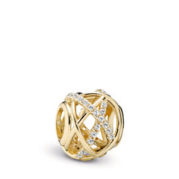 Galaxie Charm aus Gold, 14-K-Gold, Kein anderes Material, Keine Farbe, Cubic Zirkonia - PANDORA - #750827CZ