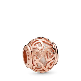 Hearts Filigree Charm, PANDORA Rose, Kein anderes Material, Keine Farbe, Cubic Zirkonia - PANDORA - #787348CZ