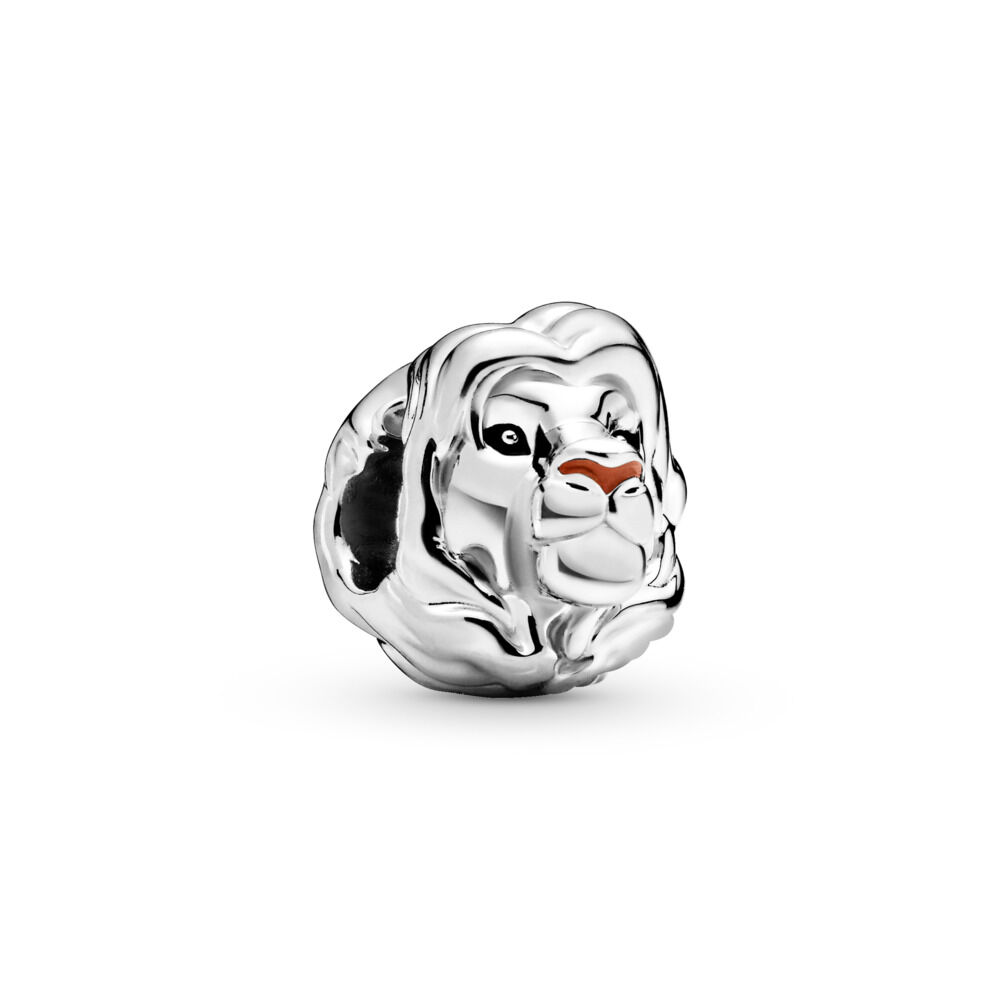 Disney The Lion King Simba Charm Sterling Silber Emaille Schw