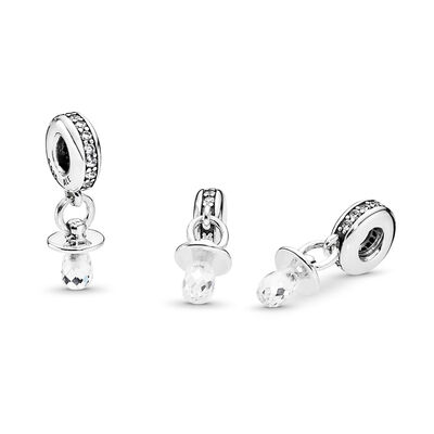 Pacifier Charm, Sterling-Silber, Kein anderes Material, Keine Farbe, Cubic Zirkonia - PANDORA - #791890CZ