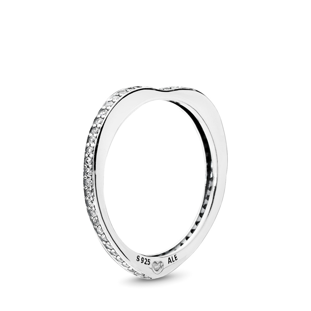 Sparkling Arcs of Love Ring
