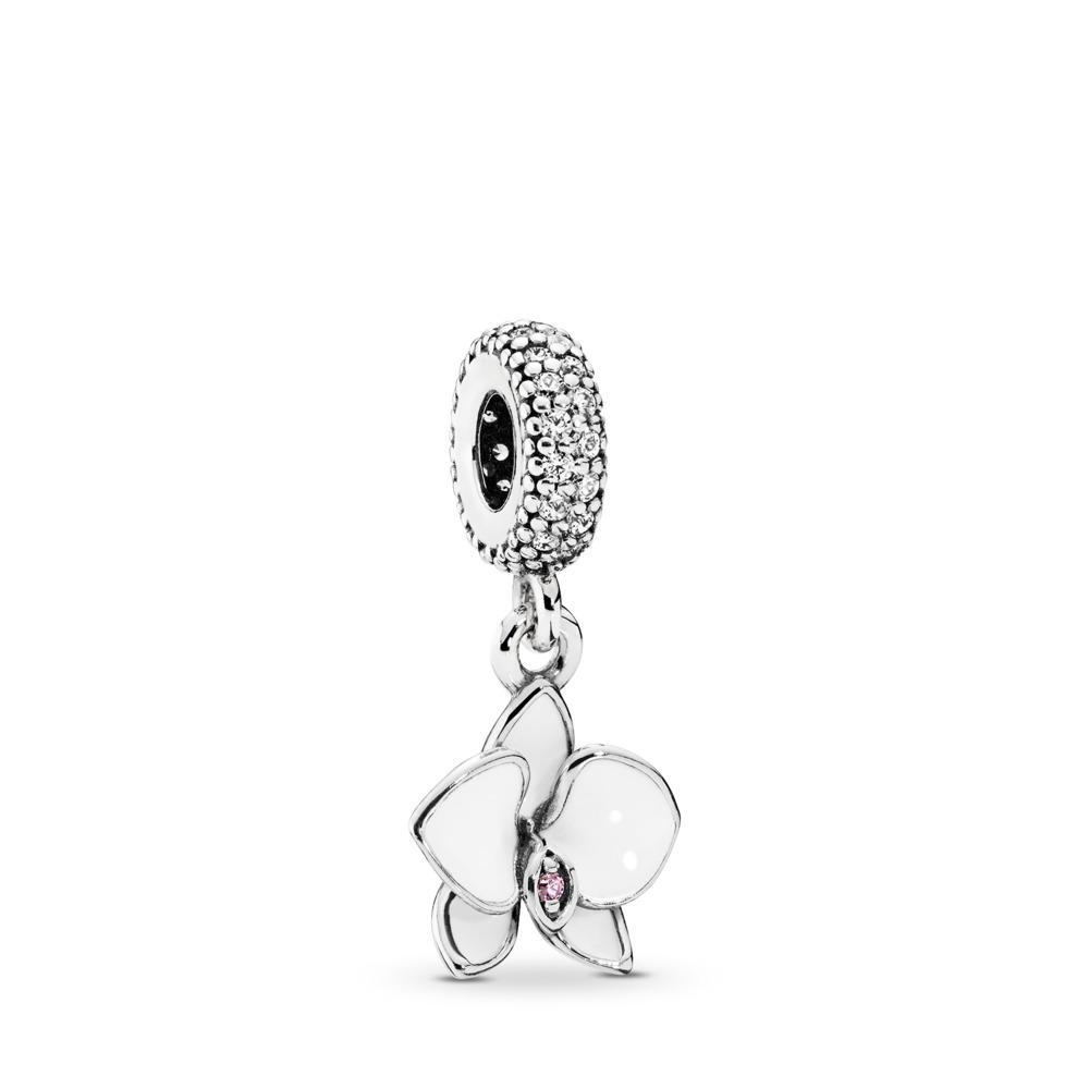 White Orchid Charm