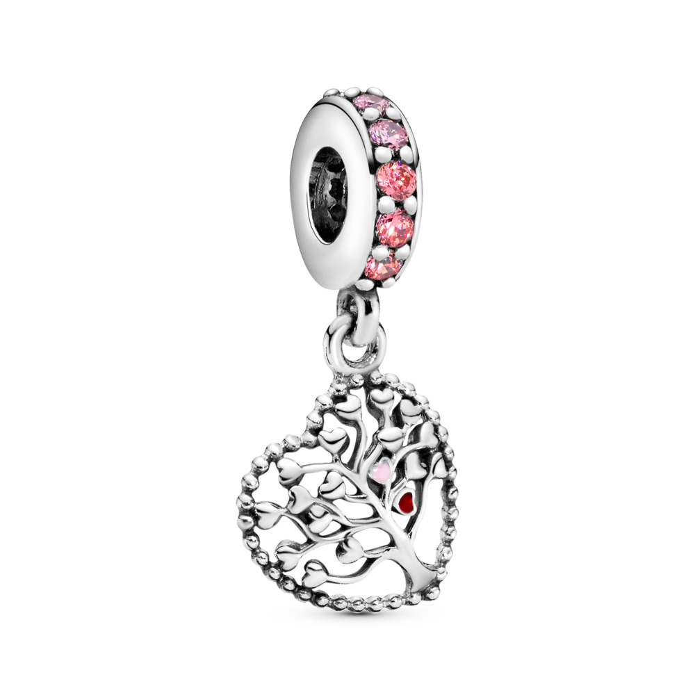 Pink Family Tree Charm-Anhänger