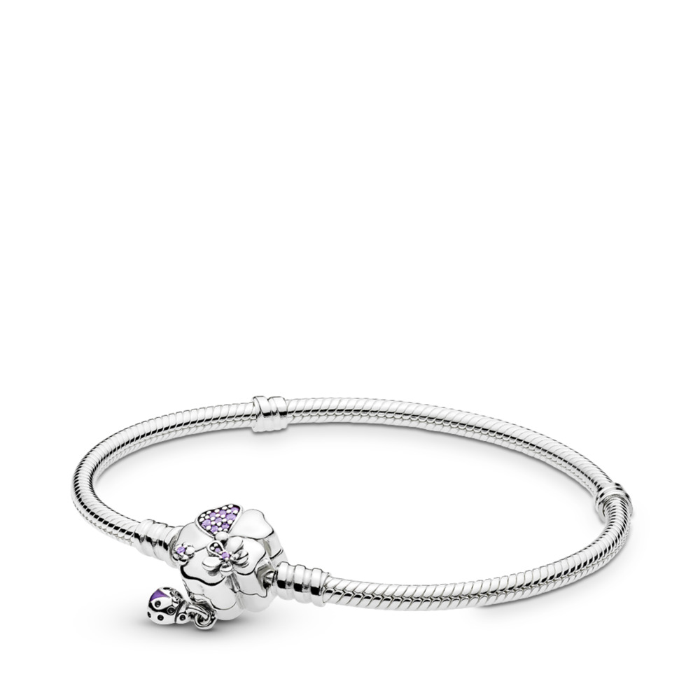 Moments Silver Armband, Wildflower Meadow Clasp